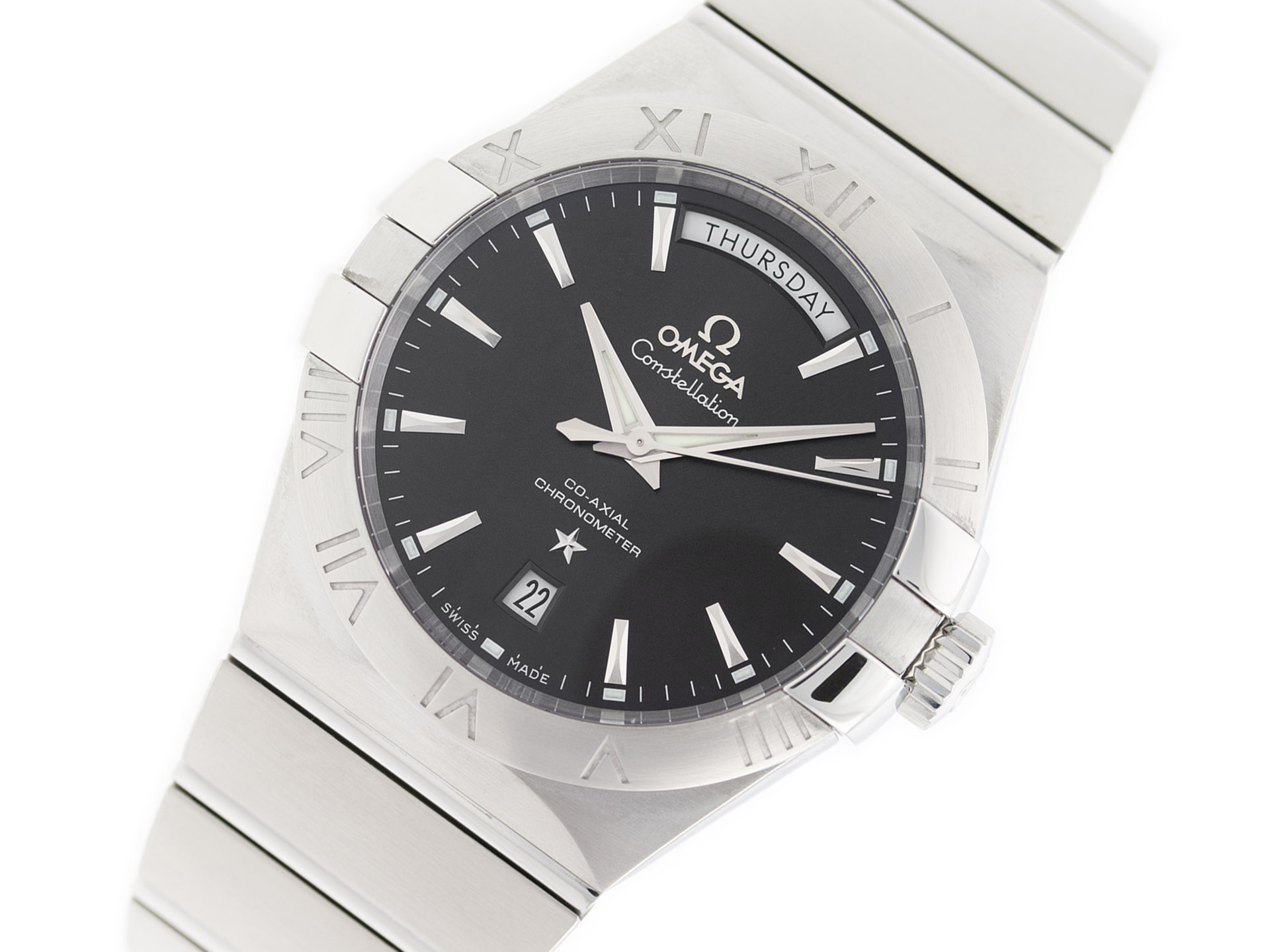 Omega constellation day date precision watches jewelryprecision watches for Omega watch constellation