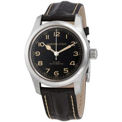New Hamilton Watches Khaki Field Automatic Black Dial