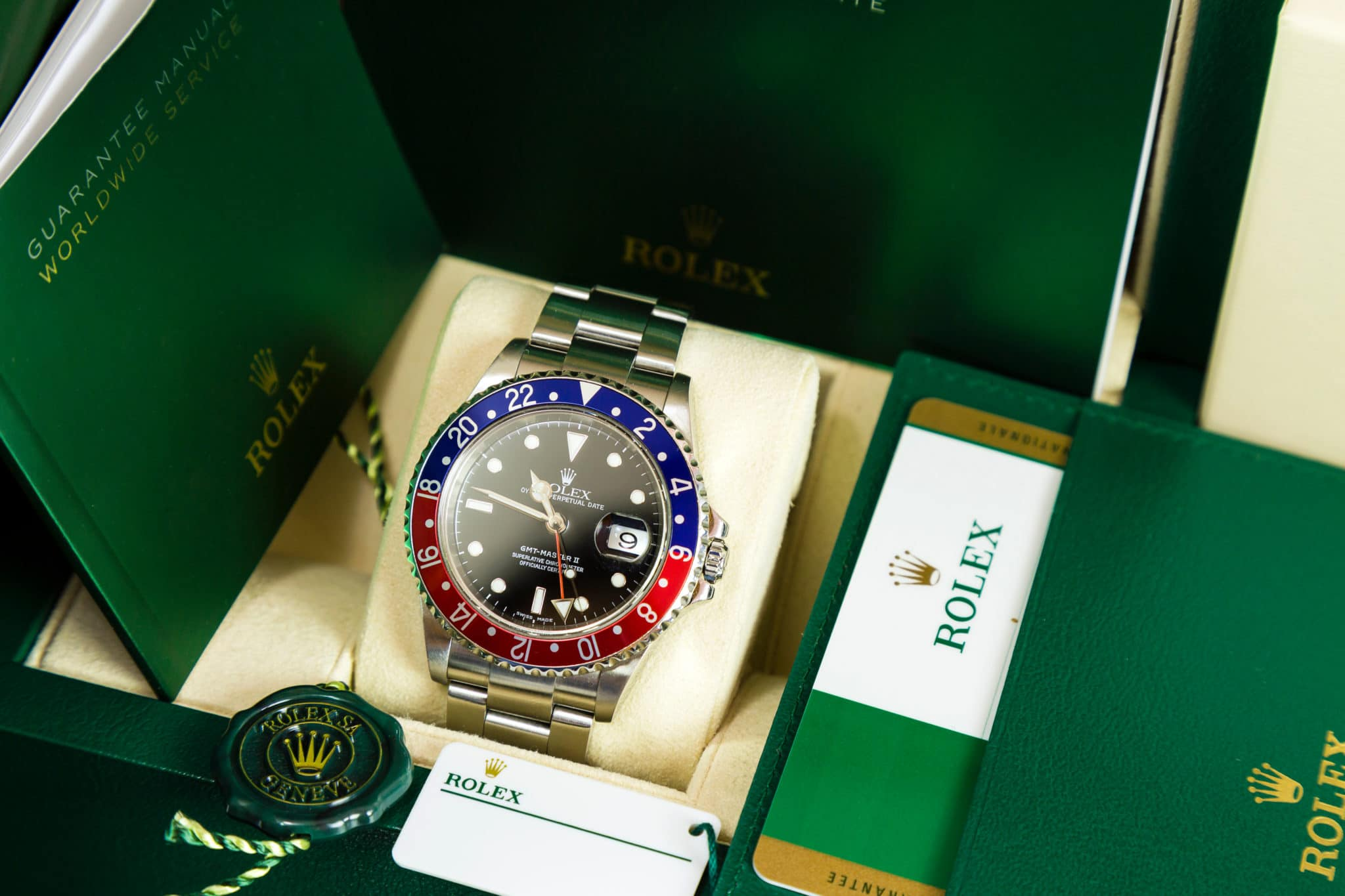sell my vintage rolex pepsi with box and papers