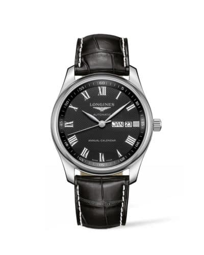 longines master collection 40mm black dial