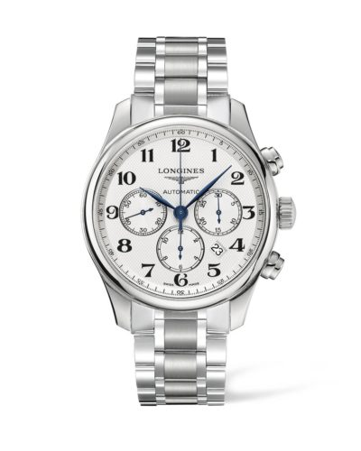 longines master collection 44mm white dial