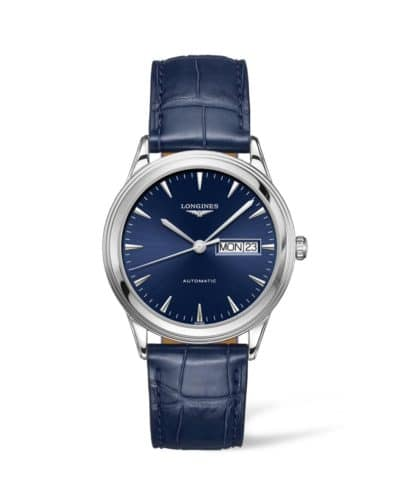 longines flagship 38mm blue dial
