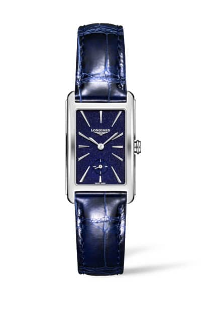 longines dolcevita 23mm blue dial watch