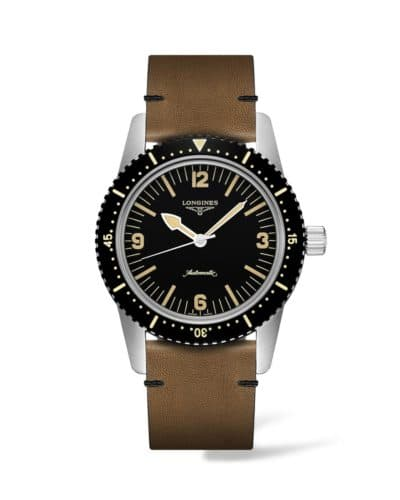longines skin diver watch 42mm stainless steel