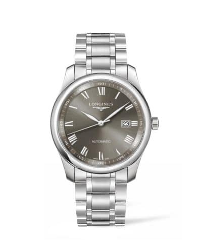 longines master collection 40mm grey dial