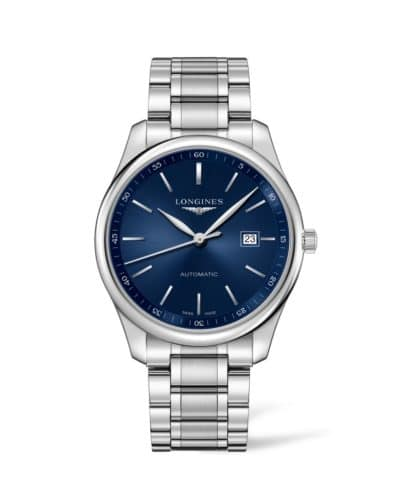 longines master collection 42mm blue dial