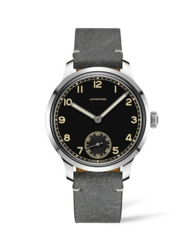 longines heritage military 43mm black dial