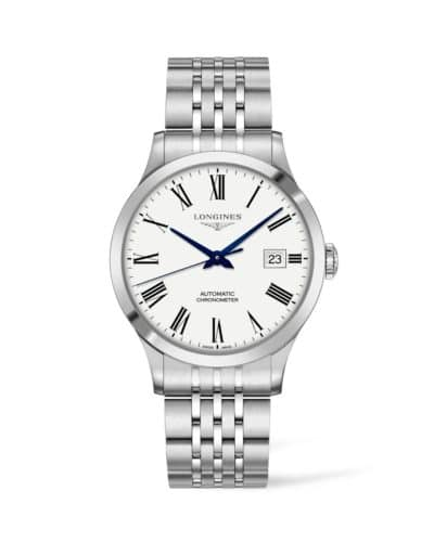 new longines record 40mm automatic watch