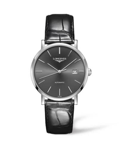 longines elegant collection 39mm grey dial